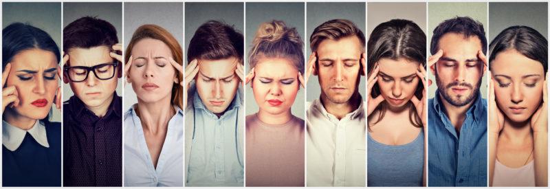 suboccipital block headache relief concept